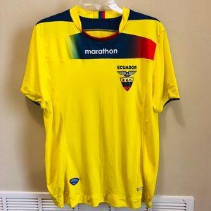 0ad5b2562b7 Marathon. Ecuador Yellow Soccer Jersey Size Large
